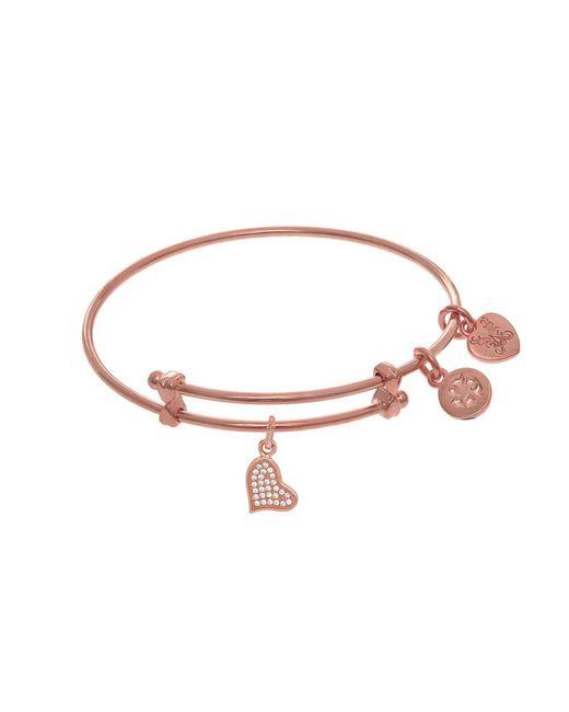 Angelica - Pink Heart Charm Expandable Tween Bangle Bracelet - Lyst