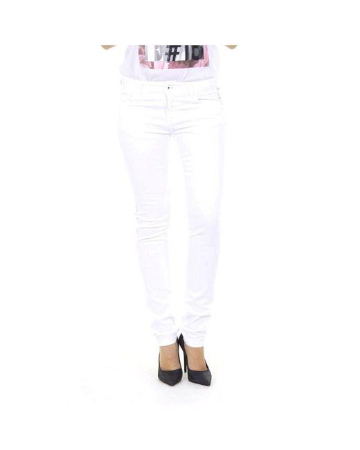 Emporio Armani - White Ladies Jeans - Lyst