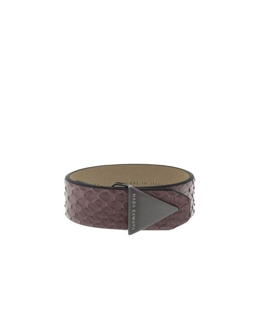 Nada Sawaya | Multicolor The Simple - Python And Satin Black Nickel-tone Bracelet | Lyst