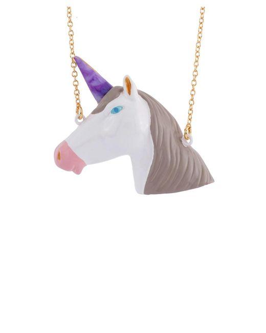 Les Nereides | White Unicorn's Face Long Necklace | Lyst