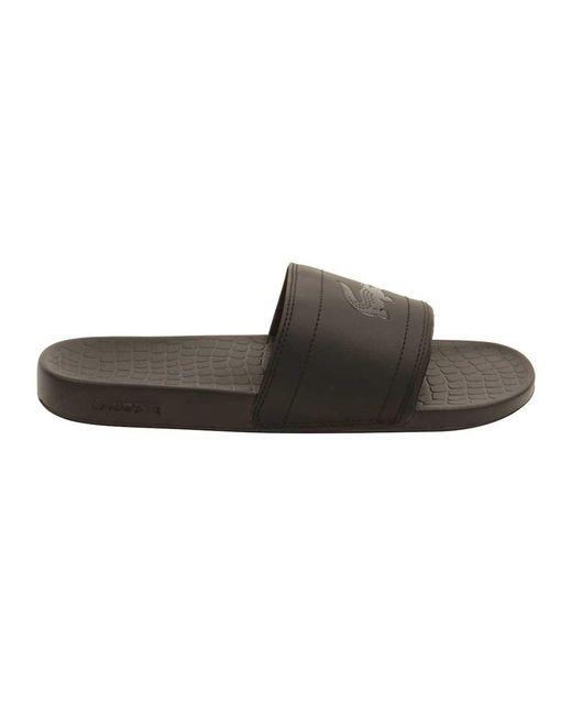 feba182aa ... Lyst Lacoste - Black Men s Fraisier 118 Slide Sandal for Men ...