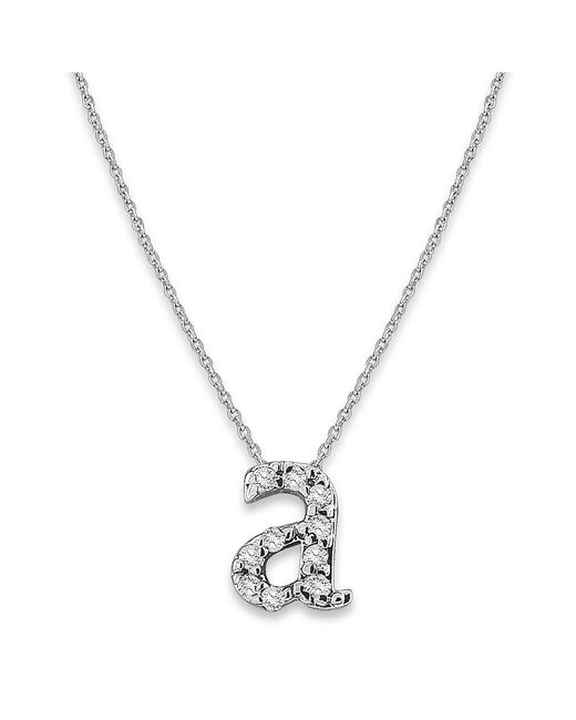 KC Designs - White 14k Gold And Diamond Lowercase Initial Necklace, A - Lyst
