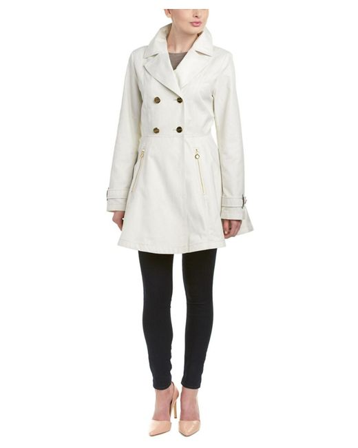 Laundry by Shelli Segal - Multicolor Flared Trench Coat - Lyst