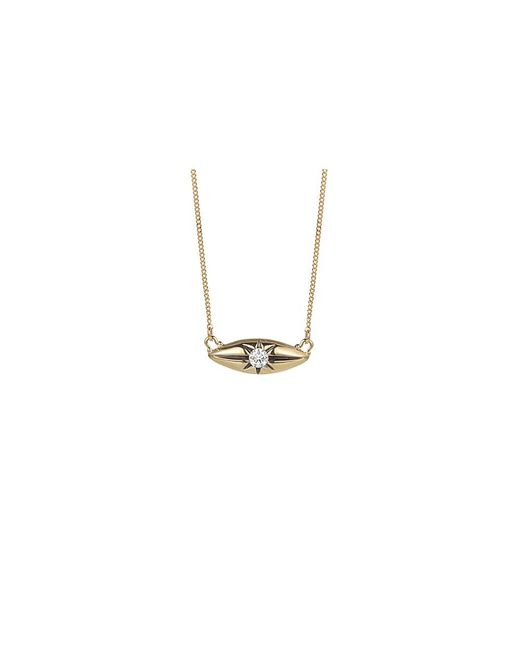 Jewelista - Diamond Marquise Station Necklace In 14k Yellow Gold (0.10cts, H-i I1) - Lyst