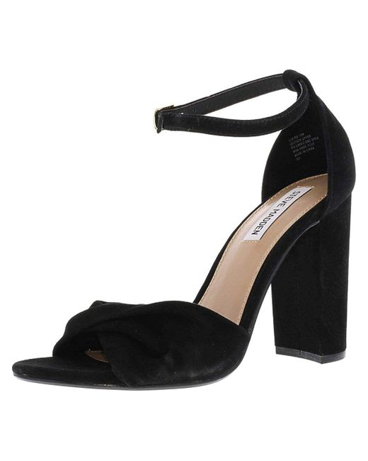 d7c0c807016 Lyst - Steve Madden Women s Clever Suede Ankle-high Pump in Black