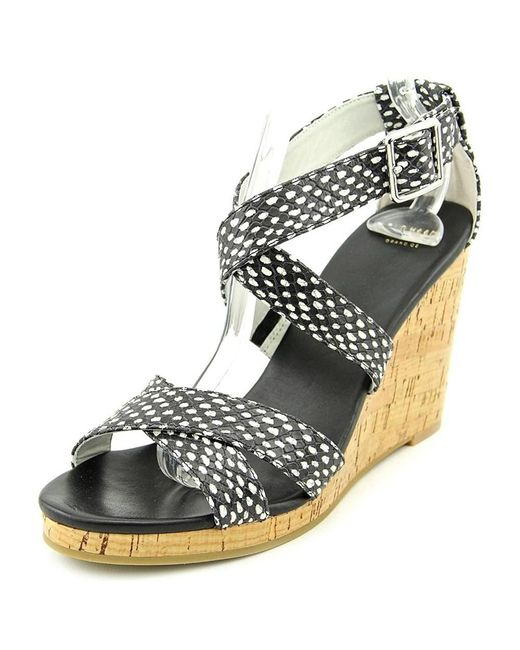 Cole Haan - Black Jillian Wedge Sandals - Lyst