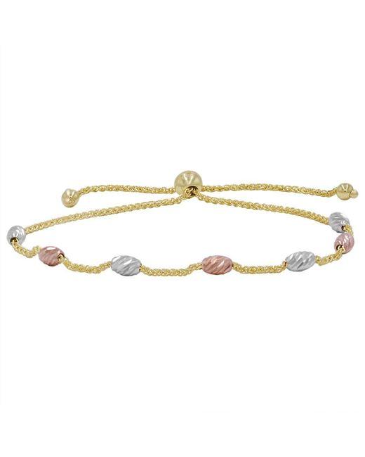 Amanda Rose Collection | Metallic Amanda Rose 14k Tri-tone Gold Beaded Bolo Bracelet (adjustable) | Lyst