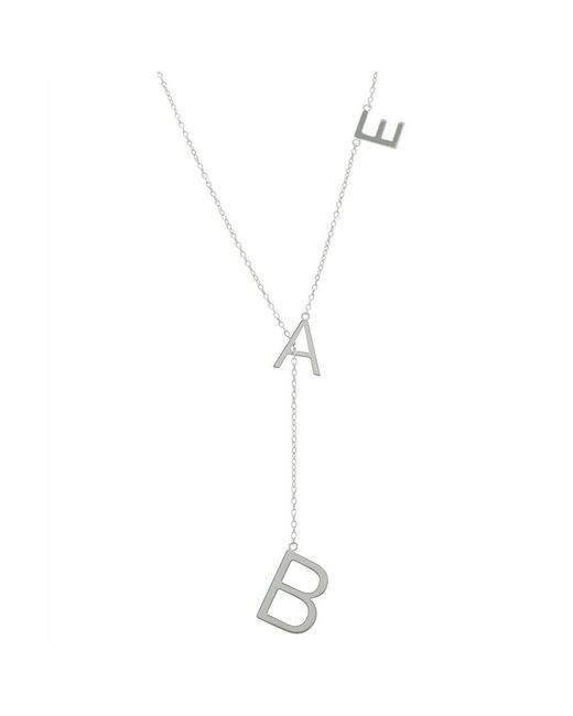 Adornia - Metallic Sterling Silver Bae Lariat Necklace - Lyst