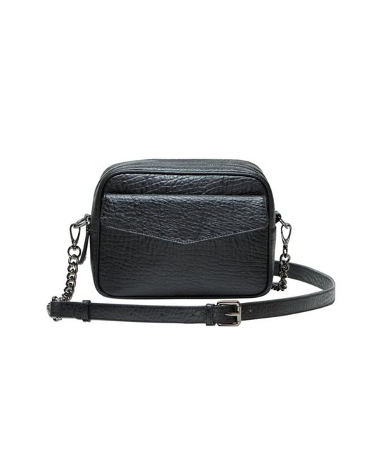 Mofe - Black Orenda Dual Compartment Structured Camera Bag-style Crossbody With Adjustable Shoulder Strap - Lyst