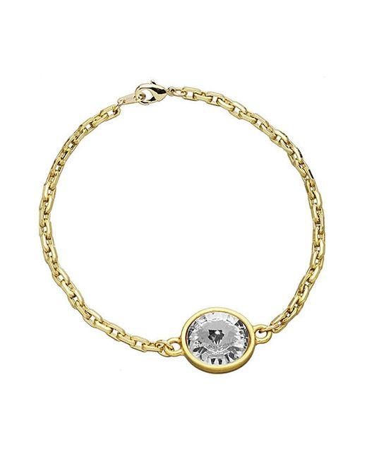 Eklexic | Metallic Crystal Pendant Bracelet | Lyst
