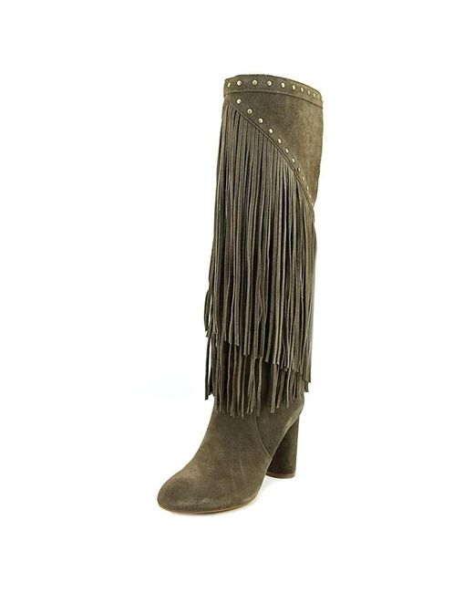 INC International Concepts - Tolla Women Round Toe Suede Gray Knee High Boot - Lyst