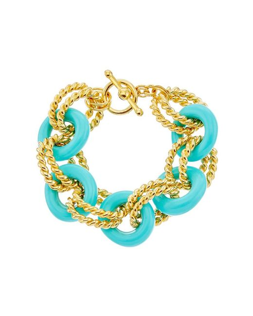Kenneth Jay Lane   Multicolor Toggle Bracelet   Lyst