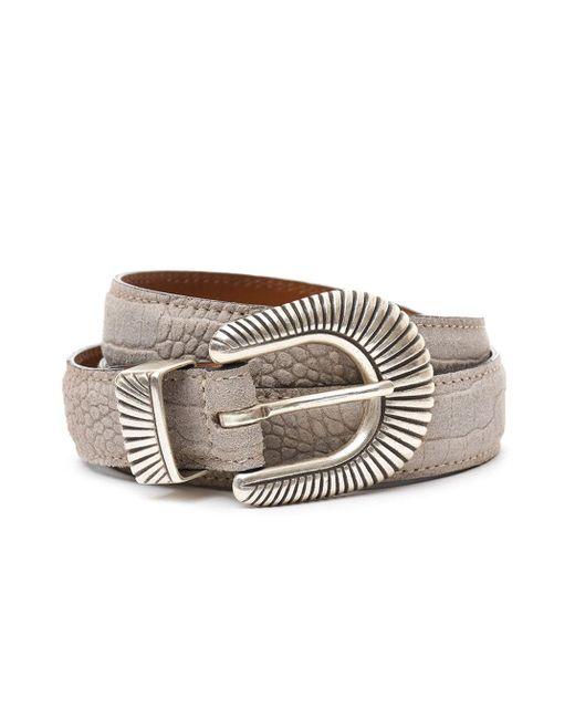 Eleventy - Natural Men's Beige Leather Belt for Men - Lyst