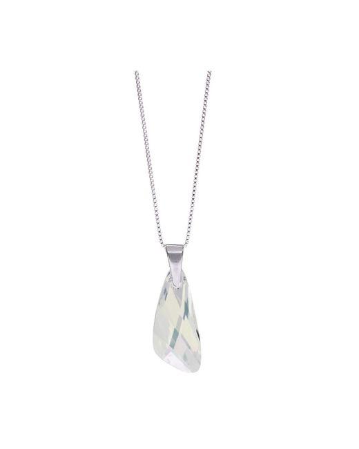 Barzel | Metallic Genuine Swarovski Wing Clear Crystal Pendnat In Sterling Silver Chain Necklace | Lyst