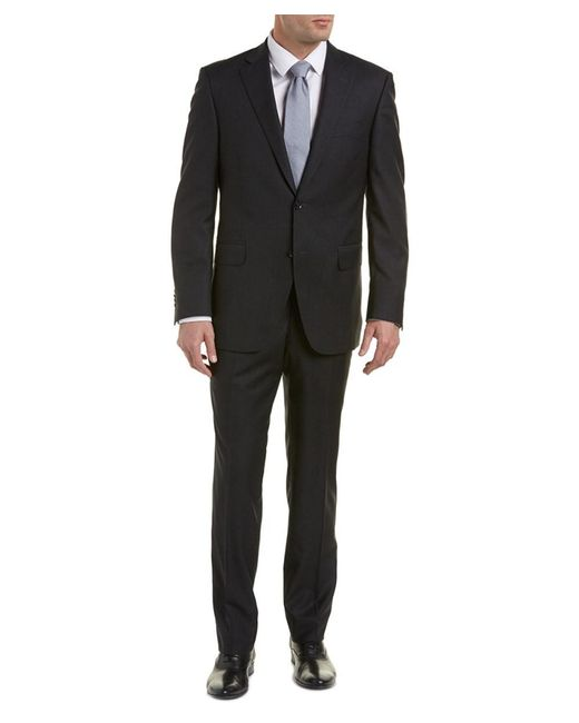 Peter Millar | Gray Wool Suit With Flat Front Pant for Men | Lyst