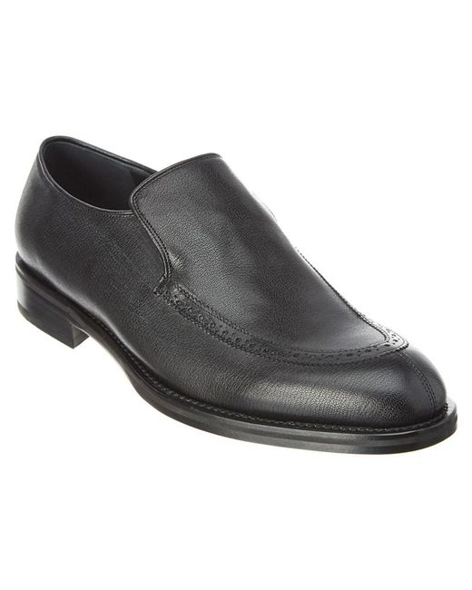 Ferragamo | Black Denton Leather Oxford for Men | Lyst