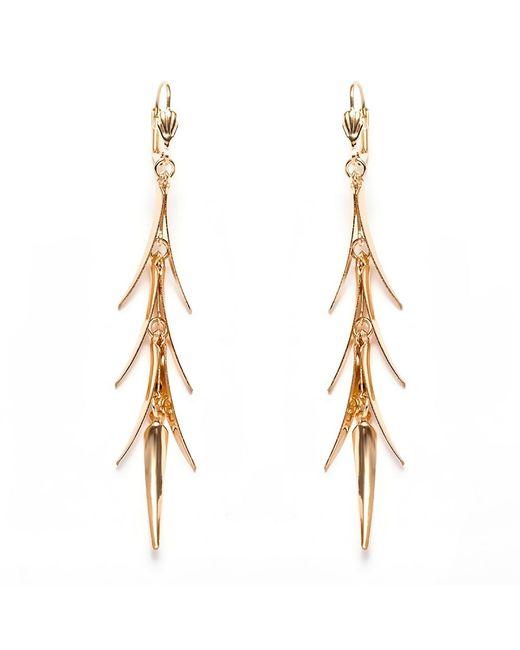 Peermont - Metallic Gold Spike Dangling Earrings - Lyst