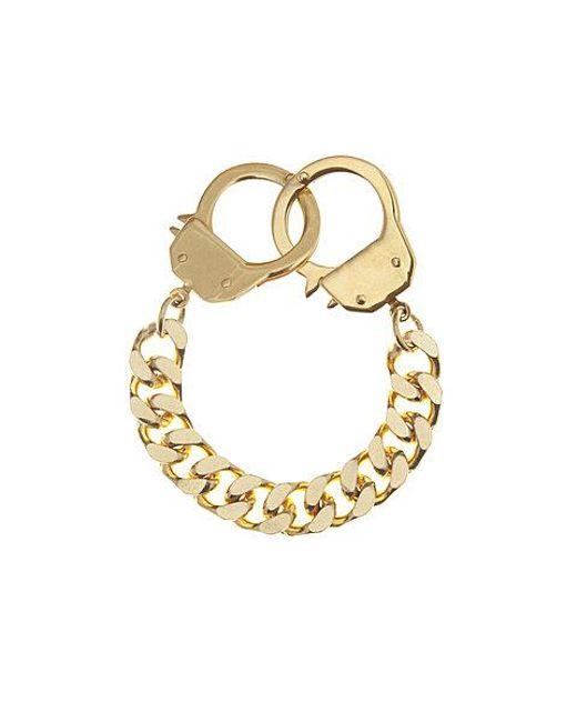 Eklexic | Metallic Men's Handcuff Clasp Bracelet (gold) for Men | Lyst