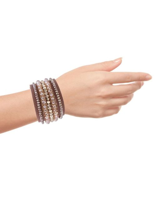 Saachi - Pink Jean Cuff Bracelet - Lyst