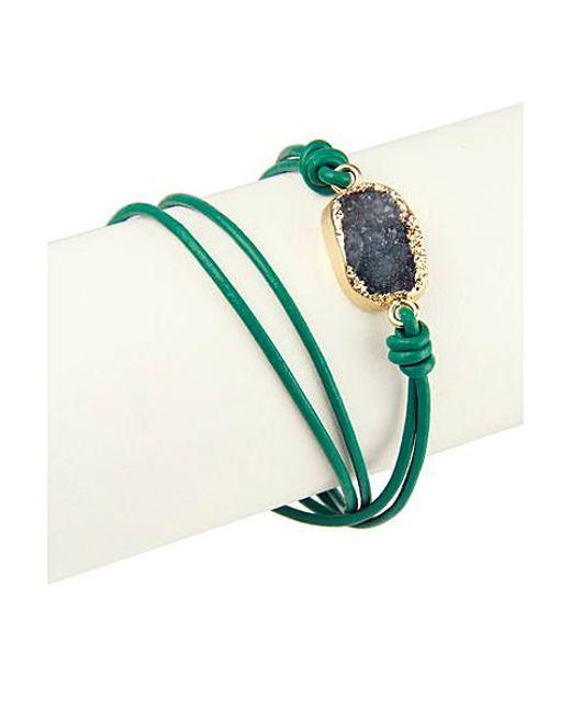 Saachi | Blue Crystal Wrap Bracelet | Lyst