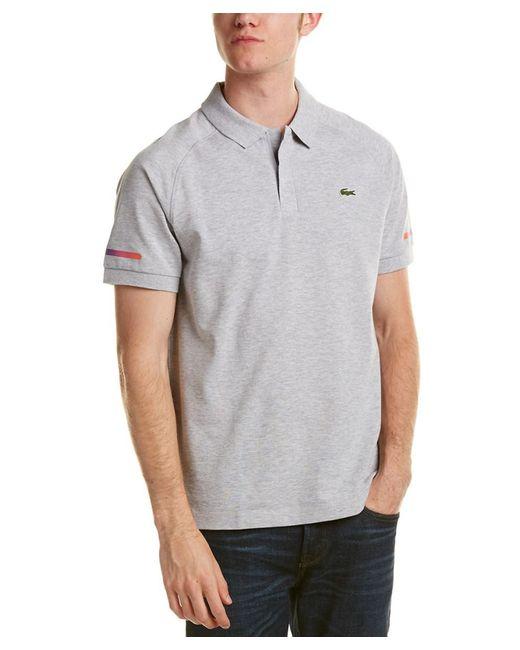 Lacoste - Gray Sport Lifestyle Super Light Polo Shirt for Men - Lyst