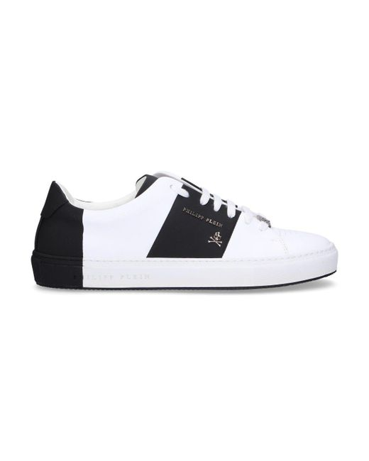 Philipp Plein - Men's White Leather Sneakers for Men - Lyst