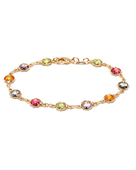 Peermont - Metallic Gold And Multi Color Crystals Bracelet - Lyst