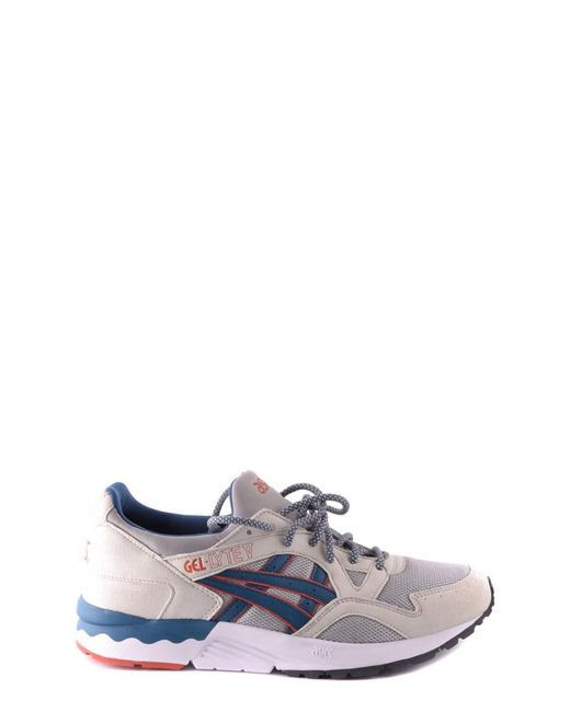 Asics - Men's Blue/grey Suede Sneakers for Men - Lyst