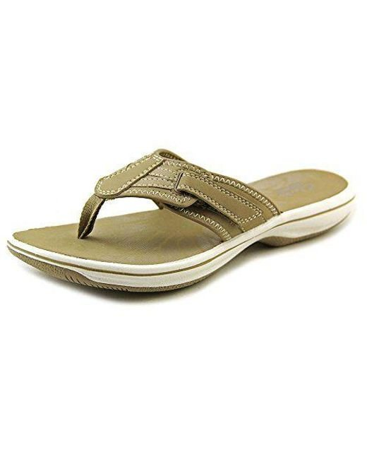 619eacfe6a6 Clarks - Gray Womens Open Toe Casual T-strap Sandals - Lyst ...