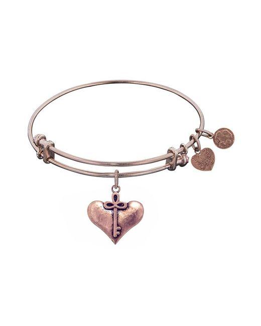 Angelica - Pink Smooth Finish Brass Cherish Bangle Bracelet, 7.25 - Lyst
