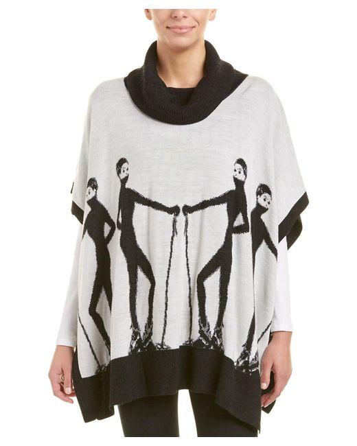 Krimson Klover - White Altitude Wool Poncho - Lyst