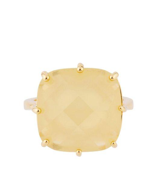Les Nereides - La Diamantine Citrine Yellow Square Stone Ring - Lyst