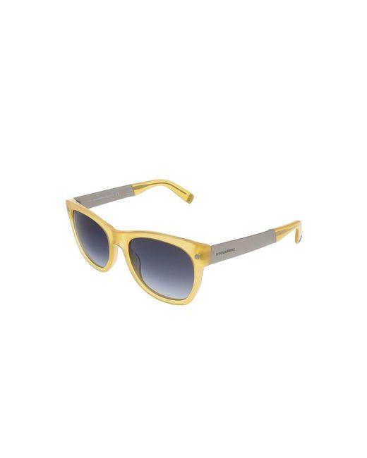 DSquared² | Dq0162/s 39w Translucent Yellow Square Sunglasses | Lyst