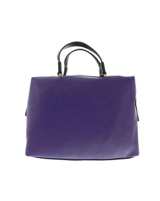 49721e4ce490 Lyst - Versace Ee1vobbk3 Emgh Black purple Satchel in Purple
