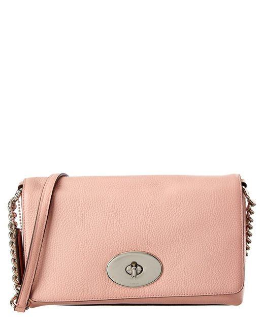 COACH | Pink Crosstown Leather Crossbody | Lyst