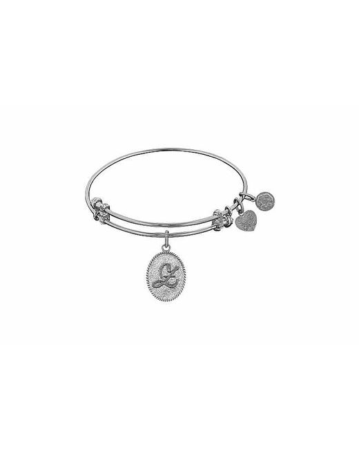 Angelica - White Initial Bangle- Z - Lyst