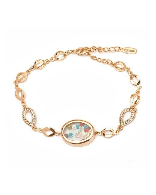 Peermont - Metallic Gold And Multi Color Swarovski Elements Oval Jewel Case Bracelet - Lyst
