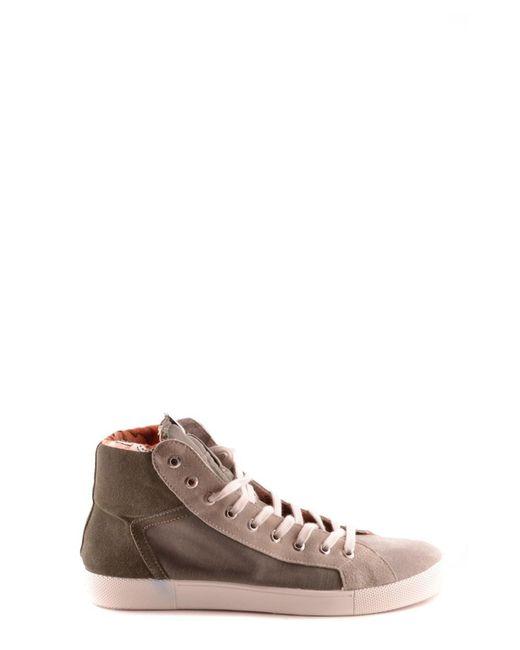 Springa - Gray Men's Grey Suede Hi Top Sneakers for Men - Lyst