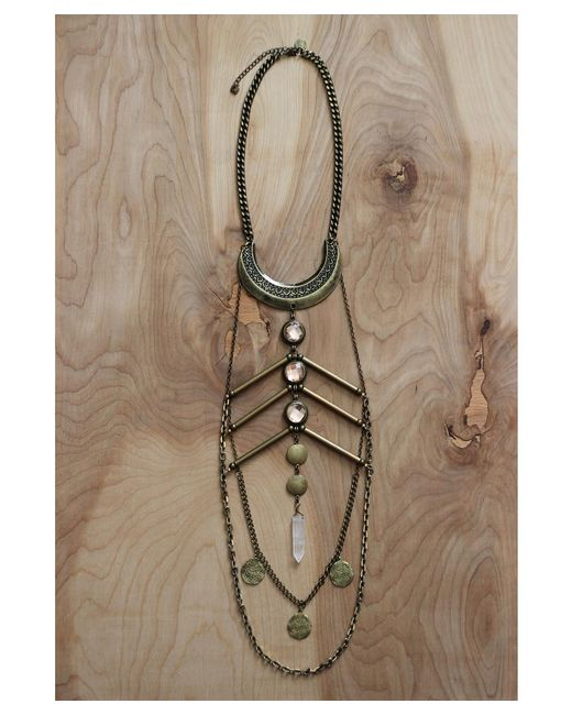 Love Leather | Multicolor Golden Paradise Necklace | Lyst