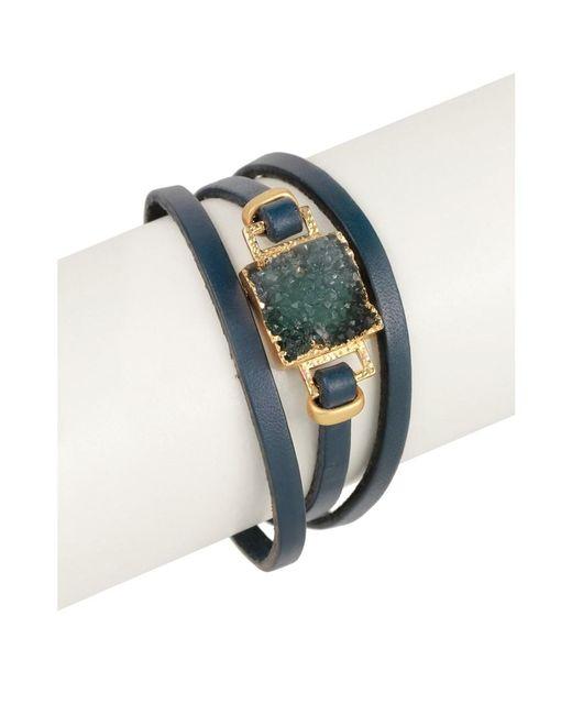 Saachi - Blue Square Druzy Bracelet - Lyst