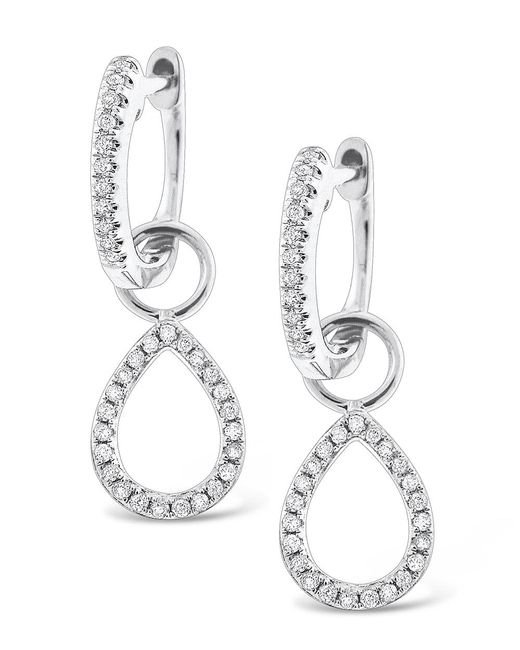 KC Designs | White 14k Gold And Diamond Teardrop Earrings | Lyst
