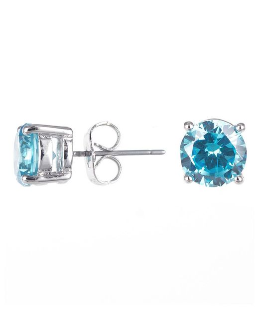 CZ by Kenneth Jay Lane | Blue 4cttw Round Cz Ears | Lyst