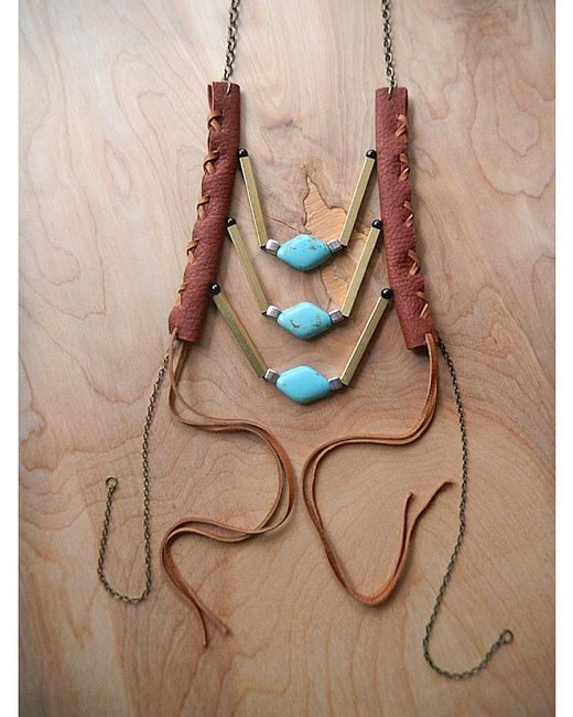 Love Leather | Multicolor Wading Waters Necklace | Lyst