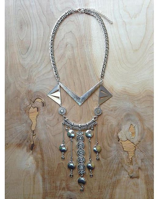 Love Leather   Multicolor Silver Palace Necklace   Lyst