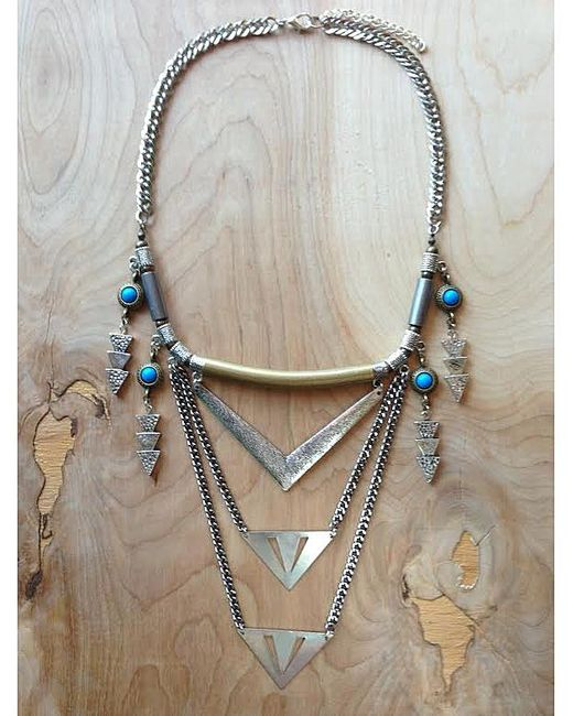 Love Leather | Multicolor Royal Shield Necklace | Lyst
