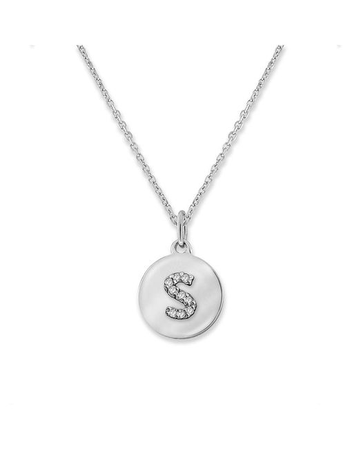 KC Designs   White 14k Gold And Diamond Lowercase Initial Necklace, S   Lyst