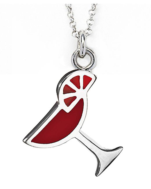 Jan Leslie | Red Martini Glass Pendant / Charm Necklace | Lyst