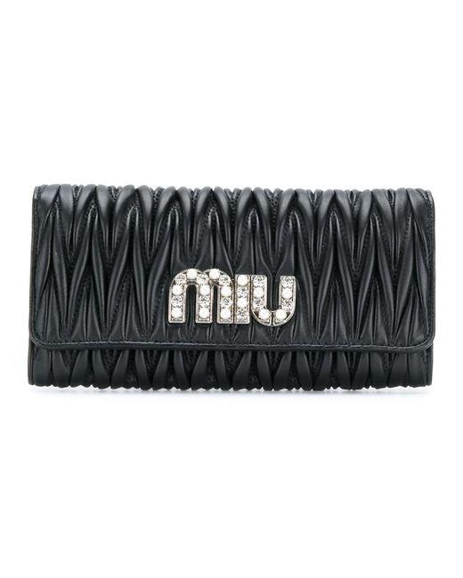 Miu Miu - Women's Black Wallet - Lyst