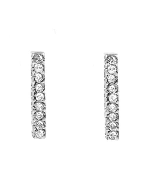 Adornia | Metallic Diamond And Sterling Silver Barra Bar Stud Earrings | Lyst