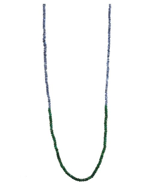 Adornia | Blue Sapphire And Green Onyx Belle Necklace | Lyst